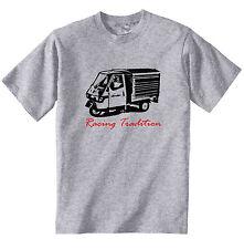 APE Piaggio 50 Racing tradición P-nueva Camiseta Algodón Gris-todos Los Tamaños En Stock