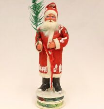 Santa with Chime Saint Nickolas 1920's Vintage German Christmas Candy Container