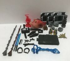 Lot Of Star Wars Action Figures Accessories, Weapons Etc..