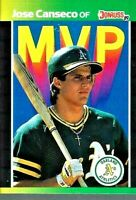 1989 Donruss Athletics:  Jose Canseco - OF- MVP Card #BC-5  BUY 1 GET 2 FREE