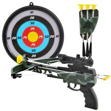 deAO Indoor & Outdoor Crossbow Toy Set with Suction Cup Arrows and Target Board