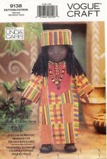 "VOGUE Ethnic Doll w/Transfer & Outfit Pattern 9138 Size 18"" UNCUT"