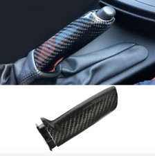 Carbon Fiber Black Handbrake Brake Handle Covers For BMW E46 E90 E92 F30 F32 F80