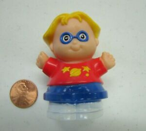 Fisher Price Little People EDDIE in RED SPACE SHIRT 1998 Student Boy w/ GLASSES