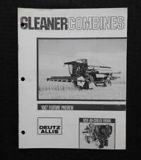 1994 GLEANER DEUTZ ALLIS R5 R60 R70 COMBINE FEATURE PREVIEW SALES BROCHURE CLEAN