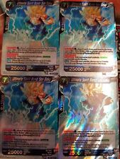 Ultimate Spirit Bomb Son Goku 4x BT3-034 R Dragon Ball Super PLAYSET