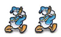 Donald Duck Walking Enamel  Metal Stud Earrings