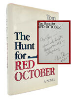 SIGNED & INSCRIBED The Hunt for Red October – 1ST EDITION / 3RD Tom CLANCY 1984
