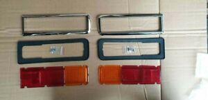 Ford Escort Mk1 Rear Light kit New chrome surrounds & Rubbers & Lenses MAGNUM