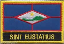 Netherlands Sint Eustatius Flag Embroidered Patch Badge - Sew or Iron on