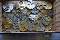 30 Antique Pocket Watch Plates (1031) Mechanisms Movements for Parts or Repair