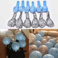 12x Frozen Snowflake Printed Latex Balloons Birthday Party Xmas Gift Decor Fw