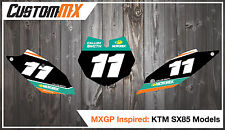 KTM SX85 Printed Number Backgrounds 2003-2012 2013-2017 2018-2019 SX 85 Decals