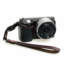 New HORUSBENNU HLC-N5 Genuine Leather Camera Half / Bottom case for SONY NEX-5
