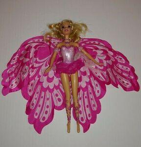 "2005 Barbie Fairytopia Mermaidia Elina Mermaid To Fairy 18"" Wings Mattel B4"