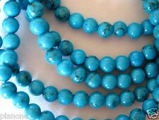 5mm Turquoise Bead Stretch Bracelet 5 Individual Strands Mix Match Blue 7.5-8""