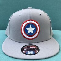 New Captain America New Era 9FIFTY Grey Snapback Hat Winter Soldier Metal