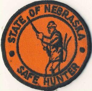 """Vintage Nebraska NE Safe Hunter 3"""" Round Patch"""