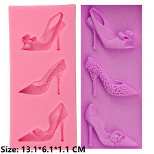 Fashion Shoes Silicone Cake Mould Fondant Sugar Craft Chocolate Decorate Tools