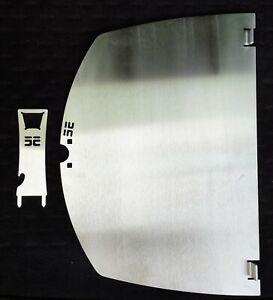 Grillplatte + Heber Plancha f. Weber Q300 Q 320 Q3000 Edelstahl 4mm Grillrost