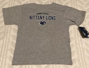 Penn State Nittany Lions Boys Shirt Small 6/7 Gray NWT
