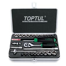 TOPTUL Profesional 29 piezas 1/4in unidades métricas y SAE Socket Set gcad 2901