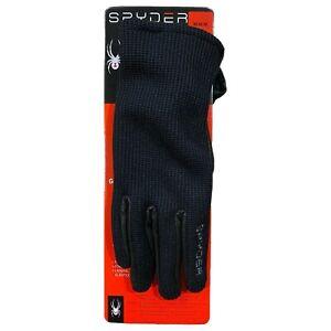 Spyder Leather Palm Gloves, Black Size: M, Medium NEW