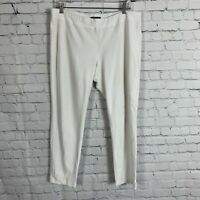 Eileen Fisher Cropped Capri Pants Leggings White Size Large