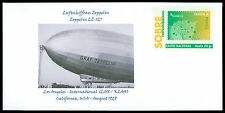 SPAIN PRIVAT-GANZSACHE LUFTSCHIFF ZEPPELIN LZ-127 LOS ANGELES PRIVATE COVER cg18