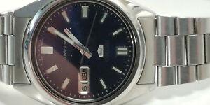 Seiko Automatic Blau Armbanduhr für Herren