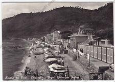 SAVONA LAIGUEGLIA 53 BAGNI ONDINA - BENZINA ESSO Cartolina FOTOG. VIAGGIATA 1954