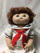"""Jan Shakelford Doll's 23"""" Boy Seasons Summer Baby ,Brown Hair OOAK Cloth, Sailor"""