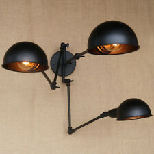 3 Heads Black Wall Lamps Long Swing Arm Lights Lighting Fixtures Ceiling Sconce