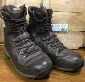British Army Issue Brown Altberg Defender High Liability Combat Boots Used 8M UK