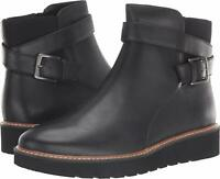 Naturalizer Womens Aster Leather Closed Toe Ankle, Black Leather, Size 9.5 kQI8