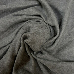 Silver Grey Anti Pill Single Sided Brushed Polyester Fleece Fabric, 150cm Wide