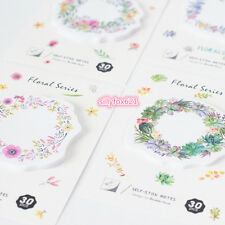 Cute pastel Flowers Sticky Notes Post-it note book Page marker memo stickers UK