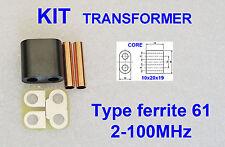 KIT RF Transformer ferrite 61 Amplifier RD16HHF1 2SC2290 IRF510 SC1969 C1969