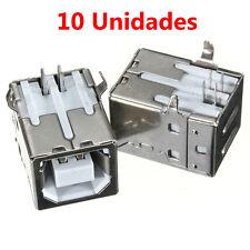 x10 Conector USB Hembra 2.0 Tipo B 4 Pin 90º para PCB