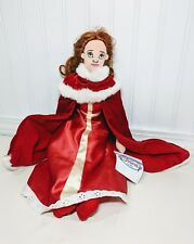 NEW 17 Belle Disneys Beauty The Beast Christmas Red Dress Cape