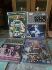 Doctor Who  DVD's ( 4 ) with Doc's Baker , Troughton , McCoy - 1 New / 3 Used