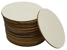 24-Pack Unfinished 4 Inch Wood Circle Cutouts for Crafts, Wooden Coasters, DIY