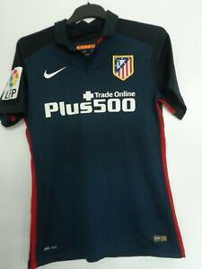 ATLETICO MADRID MATCH WORN ISSUED FOOTBALL SHIRT TRIKOT JERSEY