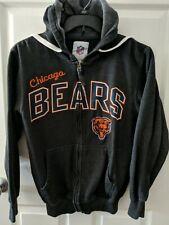 Unisex NFL Apparel Chicago Bears Long Sleeve Dark Gray Zip Up Hooded Jacket Sz.S