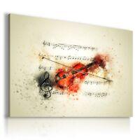 PAINTING DRAWING VIOLIN MUSIC TREBLE CLEF PRINT Canvas Wall Art R188 MATAGA .