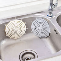 Silicone Sink Filter Kitchen Spider Web Bathroom Sucker Floor Strainer Drains