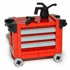LEGO Furniture: Red Tool Chest Set - All Parts + Instructions  [home,minifigure]