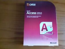 Microsoft Access 2010 DVD Genuine Full UK Retail NEW