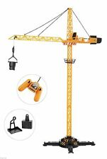 JCB Tower Crane With Remote Control 120cm Large Construction Toy  **BRAND NEW**