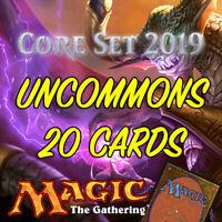 MTG Magic The Gathering Core Set 2019 M19 Job Lot 20 Uncommon Cards NM/M